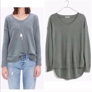 Madewell Chronicle Texture Pullover Sweater Green